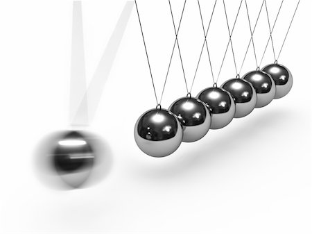 enki (artist) - Balancing balls Newton's cradle isolated on white background Stock Photo - Budget Royalty-Free & Subscription, Code: 400-04916863