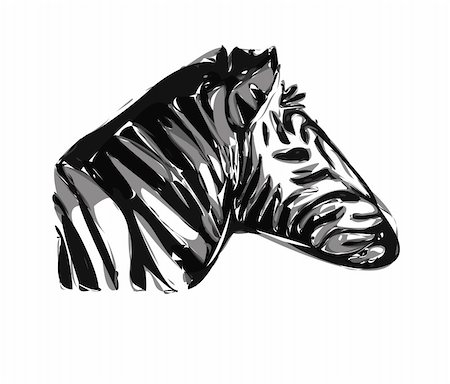 very nice zebra head isolated on the white background Stock Photo - Budget Royalty-Free & Subscription, Code: 400-04917324