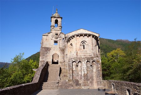 Beautiful monastery in Spain on a blue sky Stock Photo - Budget Royalty-Free & Subscription, Code: 400-04917602