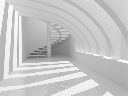 enki (artist) - Modern hall with stairs Stock Photo - Budget Royalty-Free & Subscription, Code: 400-04918643