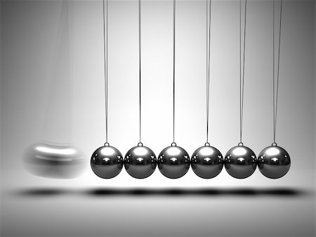 enki (artist) - Balancing balls Newton's cradle on grey background Stock Photo - Budget Royalty-Free & Subscription, Code: 400-04918660