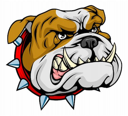 Mean looking illustration of classic British bulldog face Stock Photo - Budget Royalty-Free & Subscription, Code: 400-04911735