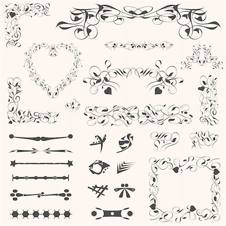 filigree - calligraphic design elements and vintage page decoration Stock Photo - Budget Royalty-Free & Subscription, Code: 400-04911806