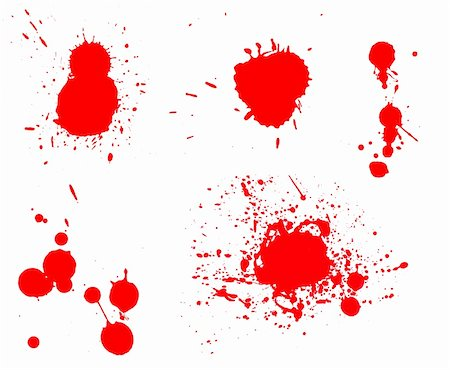 spilling blood texture - Ink splashes Stock Photo - Budget Royalty-Free & Subscription, Code: 400-04912646