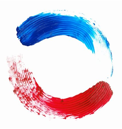 splat - red and blue brush strokes on a white background Stock Photo - Budget Royalty-Free & Subscription, Code: 400-04912640