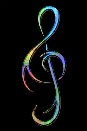 treble clef Stock Photo - Budget Royalty-Free & Subscription, Code: 400-04924491