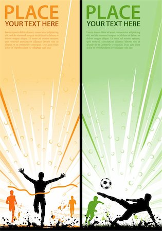 Collect grunge sport flyer with Soccer Player and Winner Man, element for design, vector illustration Stock Photo - Budget Royalty-Free & Subscription, Code: 400-04925589