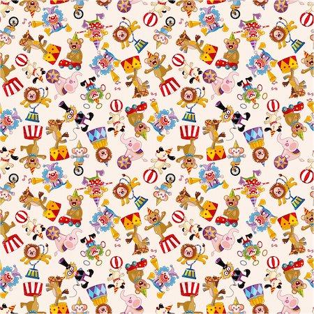 cartoon circus seamless pattern Stock Photo - Budget Royalty-Free & Subscription, Code: 400-04926244