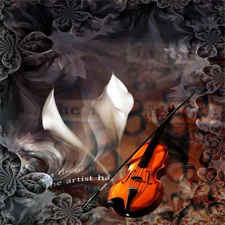 rolffimages (artist) - Violin Abstract Stock Photo - Budget Royalty-Free & Subscription, Code: 400-04926352