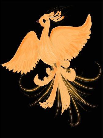 frbird - Illustration of fire-bird Stock Photo - Budget Royalty-Free & Subscription, Code: 400-04920273