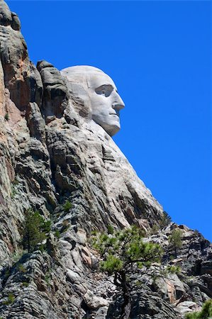 south dakota black hills national forest - Profile view of Mount Rushmore National Memorial in the Black Hills of South Dakota. Stock Photo - Budget Royalty-Free & Subscription, Code: 400-04921194
