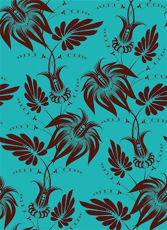 Flowers on a background. Floral design, in vintage style. Seamless pattern. Stock Photo - Budget Royalty-Free & Subscription, Code: 400-04923911