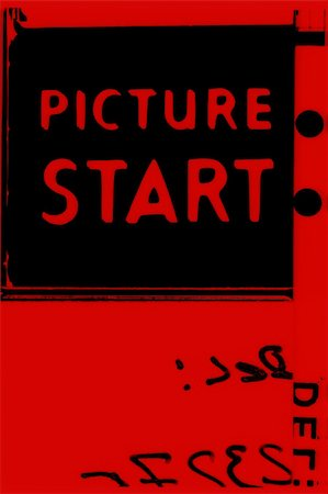 Picture start frame of 35 mm motion film Stock Photo - Budget Royalty-Free & Subscription, Code: 400-04936013