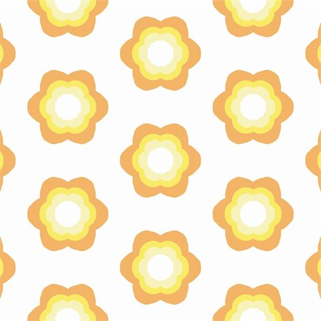 Repeated pattern - flower background Stock Photo - Budget Royalty-Free & Subscription, Code: 400-04937658