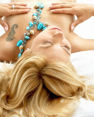 portrait of dreaming blond laying in bed Stock Photo - Budget Royalty-Free & Subscription, Code: 400-04944009