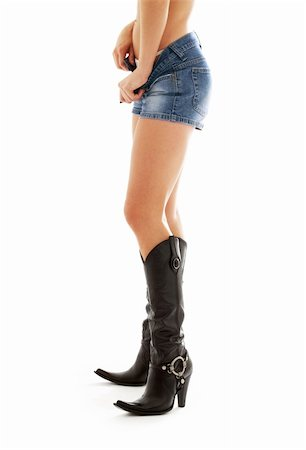 simsearch:400-04096935,k - long legs in cowboy boots over white Stock Photo - Budget Royalty-Free & Subscription, Code: 400-04944054