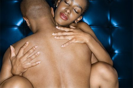 Sexy nude African-American couple embracing. Stock Photo - Budget Royalty-Free & Subscription, Code: 400-04954218