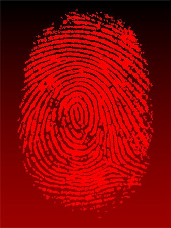pokerman (artist) - Red Vector Fingerprint on a black faded background - Very accurately scanned and traced (Vector is transparent so it can be overlaid on other images, vectors etc.) Stock Photo - Budget Royalty-Free & Subscription, Code: 400-04959009