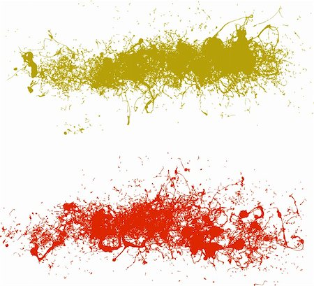 spilling blood texture - 2 Highly detailed vector splats Stock Photo - Budget Royalty-Free & Subscription, Code: 400-04950178