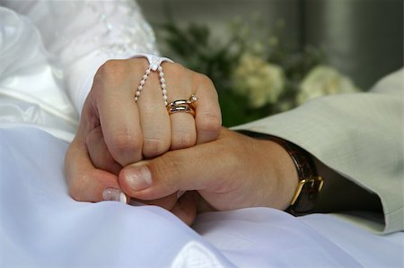 The groom keep the bride for hands Stock Photo - Budget Royalty-Free & Subscription, Code: 400-04967768