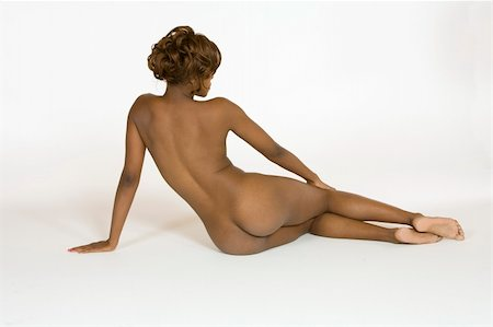 African American female posing nude Stock Photo - Budget Royalty-Free & Subscription, Code: 400-04960877