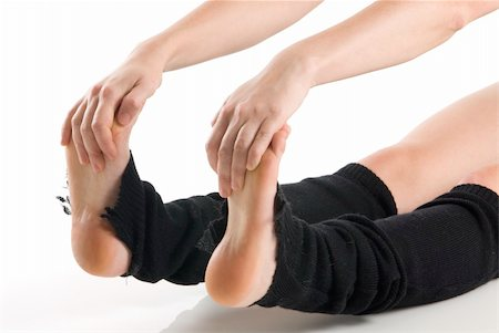 feet gymnast - legs in black knee socks warming up Stock Photo - Budget Royalty-Free & Subscription, Code: 400-04961898