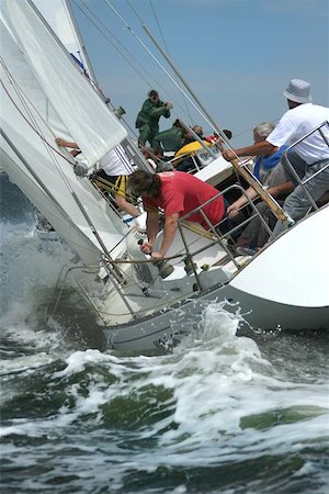 sailing boat storm - The man's storm sea  Yachts in high waves. Man's work. Courage and risk in the storm sea. Stock Photo - Budget Royalty-Free & Subscription, Code: 400-04974454