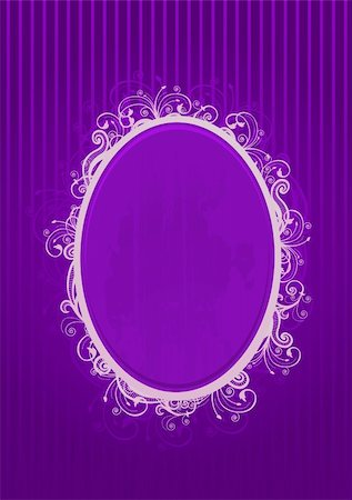 Vector illustration of a violet oval frame Stock Photo - Budget Royalty-Free & Subscription, Code: 400-04982190