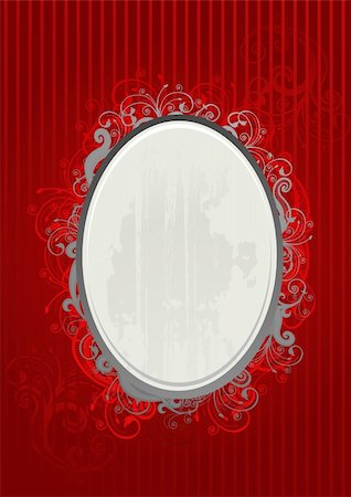 Vector illustration of red and gray oval frame Stock Photo - Budget Royalty-Free & Subscription, Code: 400-04982203