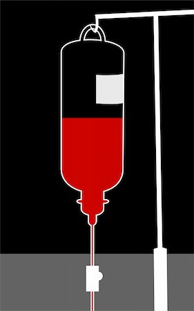 Illustration of blood bottle in a stand Stock Photo - Budget Royalty-Free & Subscription, Code: 400-04983012