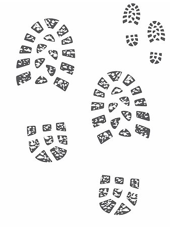 Set of muddy and clean boot prints Stock Photo - Budget Royalty-Free & Subscription, Code: 400-04990602