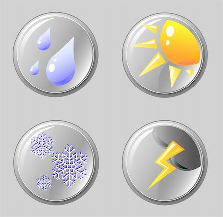 vector computer images of icons on the weather Stock Photo - Budget Royalty-Free & Subscription, Code: 400-04992181