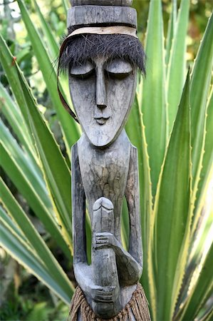 Wooden sculpture in Bali a zoo Stock Photo - Budget Royalty-Free & Subscription, Code: 400-04992263