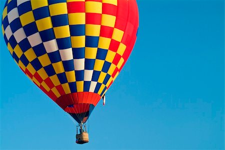 A colorful hot air balloon underway. Stock Photo - Budget Royalty-Free & Subscription, Code: 400-04993624