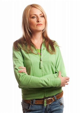 Young serious woman, isolated Stock Photo - Budget Royalty-Free & Subscription, Code: 400-05006432
