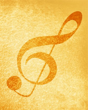 swirling music sheet - music sheet with some stains on it Stock Photo - Budget Royalty-Free & Subscription, Code: 400-05006989