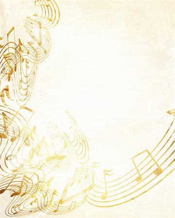 swirling music sheet - music sheet with some damage on it Stock Photo - Budget Royalty-Free & Subscription, Code: 400-05008391