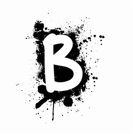 letter B with ink splat effect Stock Photo - Budget Royalty-Free & Subscription, Code: 400-05000901