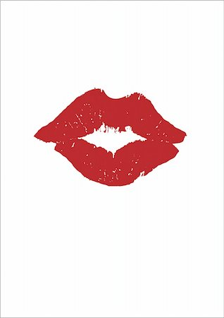 Lipstick print VECTOR Stock Photo - Budget Royalty-Free & Subscription, Code: 400-05016279