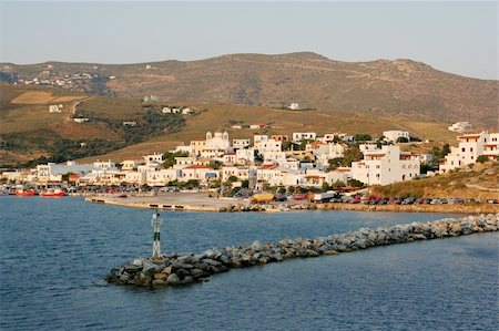The port of Gavrio on the island of Andros, Greece Stock Photo - Budget Royalty-Free & Subscription, Code: 400-05029347