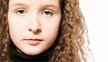 Studio portrait of a young girl Stock Photo - Budget Royalty-Free & Subscription, Code: 400-05022070