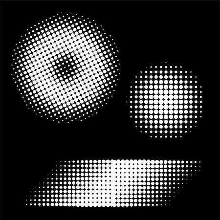 Vector - Retro 70s and 80s halftone dots in black and white with copy space for text. Stock Photo - Budget Royalty-Free & Subscription, Code: 400-05030874