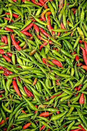 fresh chillies at market in ubud bali indonesia Stock Photo - Budget Royalty-Free & Subscription, Code: 400-05031030