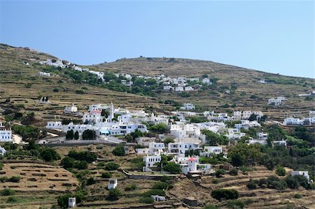 The villages of Triantaros and Dio Choria on the island of Tinos in Greece Stock Photo - Budget Royalty-Free & Subscription, Code: 400-05031041