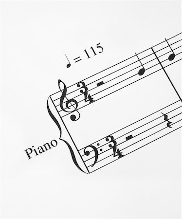 sheet music background - close-up of music note Stock Photo - Budget Royalty-Free & Subscription, Code: 400-05044253