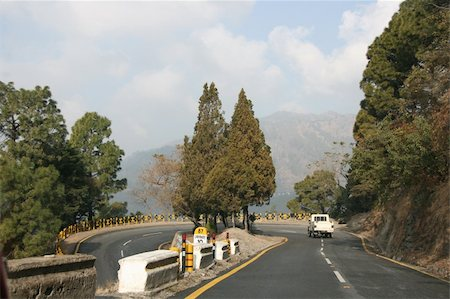 A highway lacet high in the Himalayas mountains. Stock Photo - Budget Royalty-Free & Subscription, Code: 400-05041181