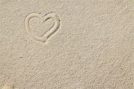 heart over sand can be used as a background Stock Photo - Budget Royalty-Free & Subscription, Code: 400-05041947