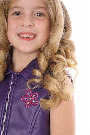 little blonde curls headshot Stock Photo - Budget Royalty-Free & Subscription, Code: 400-05042910