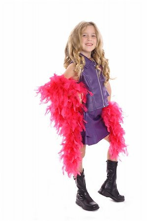 model pose child with boa Stock Photo - Budget Royalty-Free & Subscription, Code: 400-05042911