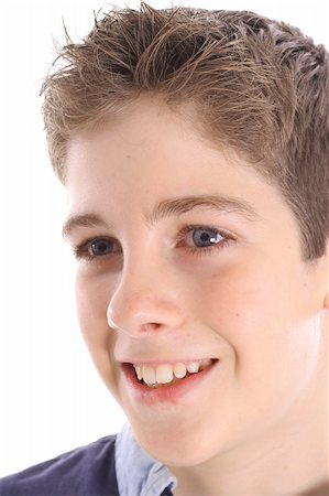 happy young boy profile shot Stock Photo - Budget Royalty-Free & Subscription, Code: 400-05042920